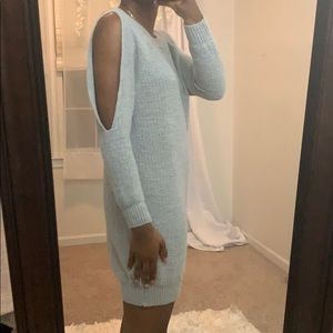 ASOS Dresses - Knitted dress with slit sleeve